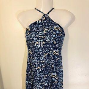 Derek Heart | New Halter blue print dress | JR L